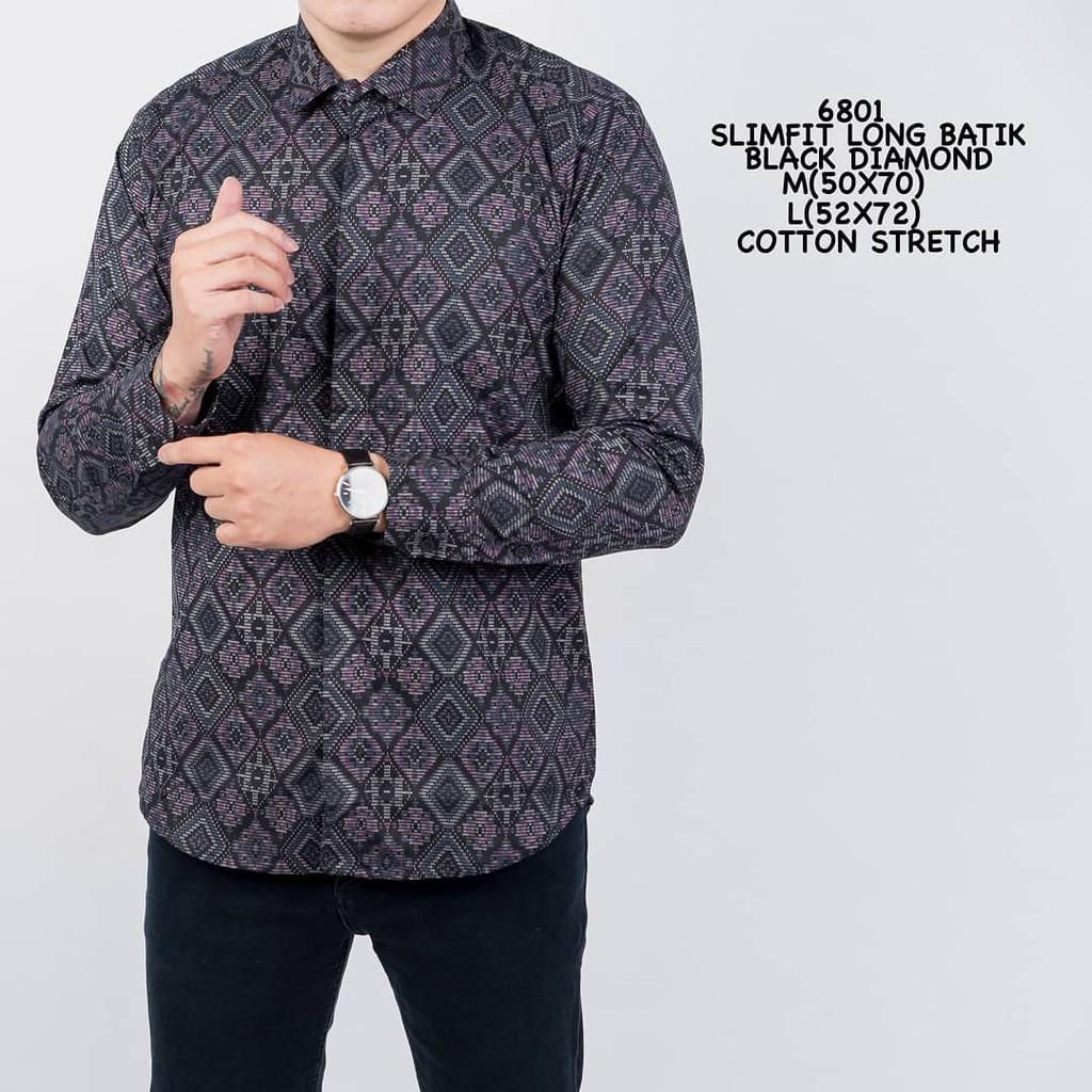 Baju Batik Pria Kemeja Batik Model Terbaru Hem Modern Pria Baju Pendek Slim  Fit  dfa4d99a94
