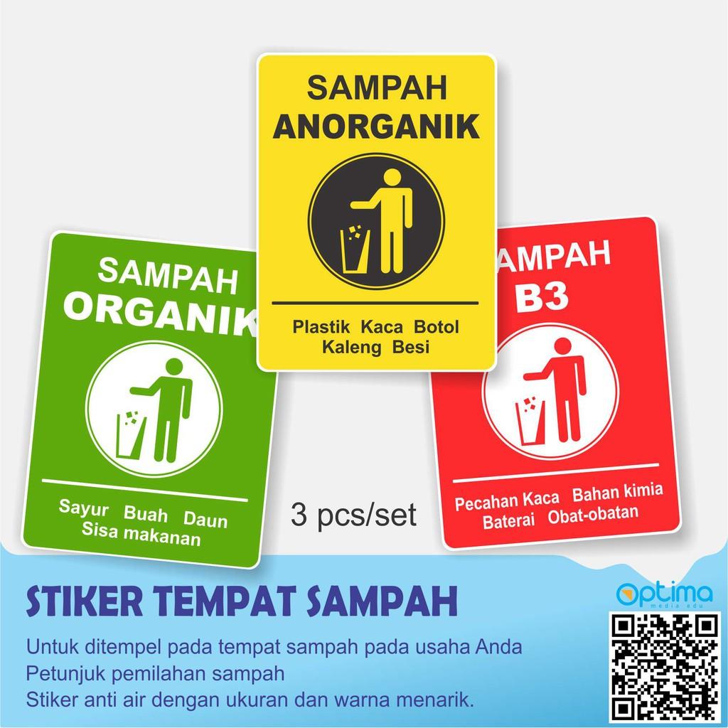 Stiker Sampah Organik Anorganik B3 Shopee Indonesia