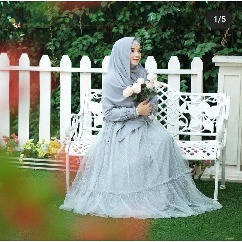 [Dress Muslim] Amayra Dress by gerai Aliyah satu set(phasmina/pad) Gamis Wanita