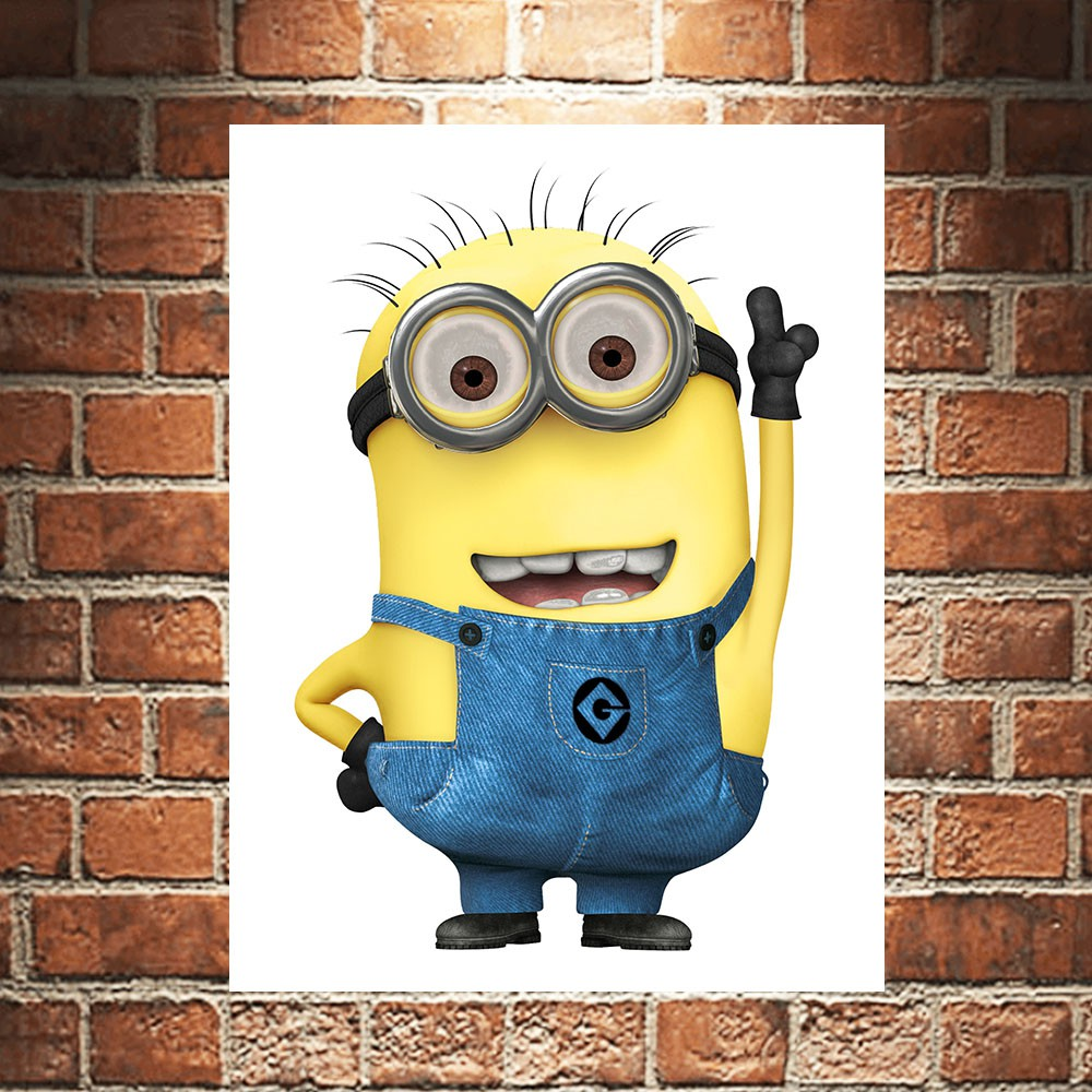 Minion Poster Kayu Pajangan Dekorasi Dinding Rumah Wall Decor Wallpaper