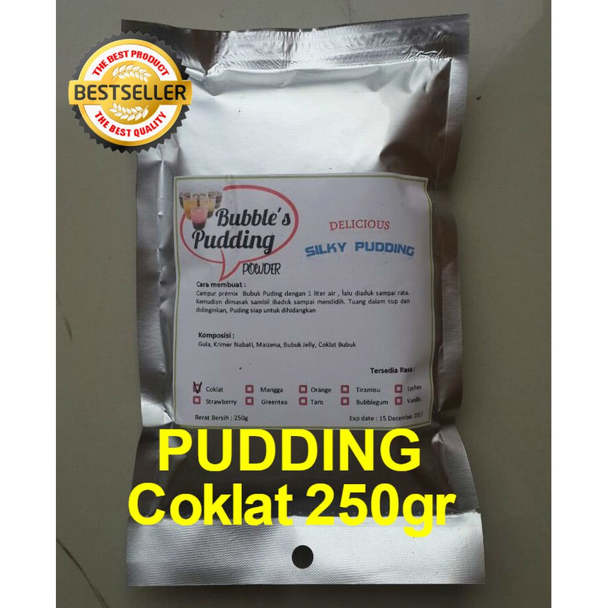 Bubble's Frizco Greentea 220gr Premix Silky Pudding powder bahan bubuk puding sutra, instant pudding | Shopee Indonesia