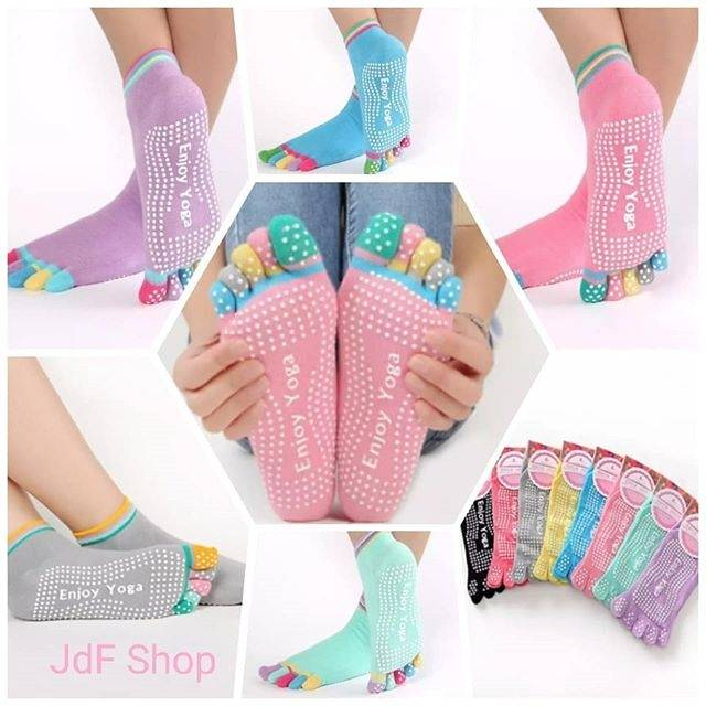 9bb85dc8e9b Women's Yoga Socks Pilates Socks Toeless Non Slip Skid With Grips ld |  Shopee Indonesia