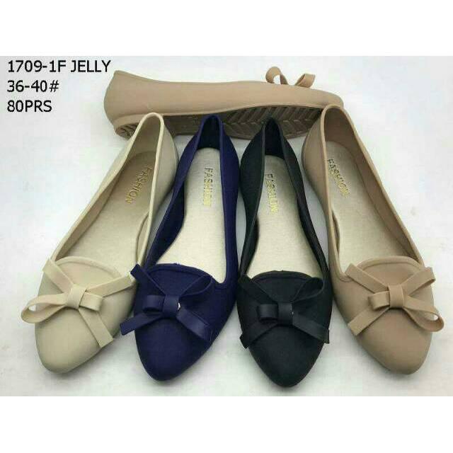 Terbaru jelly shoes ribbon daff flat fashion / sepatu wanita 1709-1f | Shopee Indonesia