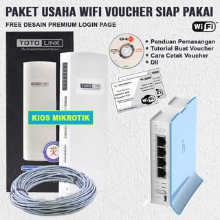 Paket Usaha Wifi Hotspot Sistem Voucher Billing Rb941 Siap pakai