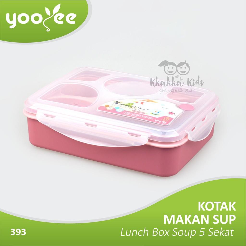 Yooyee Kotak Makan Grid Bento Lunch Box 6 Sekat Anti Bocorleak New 578 Bekal Bocor Proof Tempat Yooye Shopee Indonesia