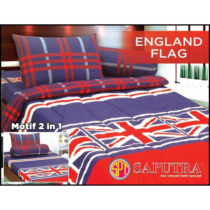 Sprei Saputra Twin 2 In 1 120 X 200 England Flag - Sprei & Bed Cover