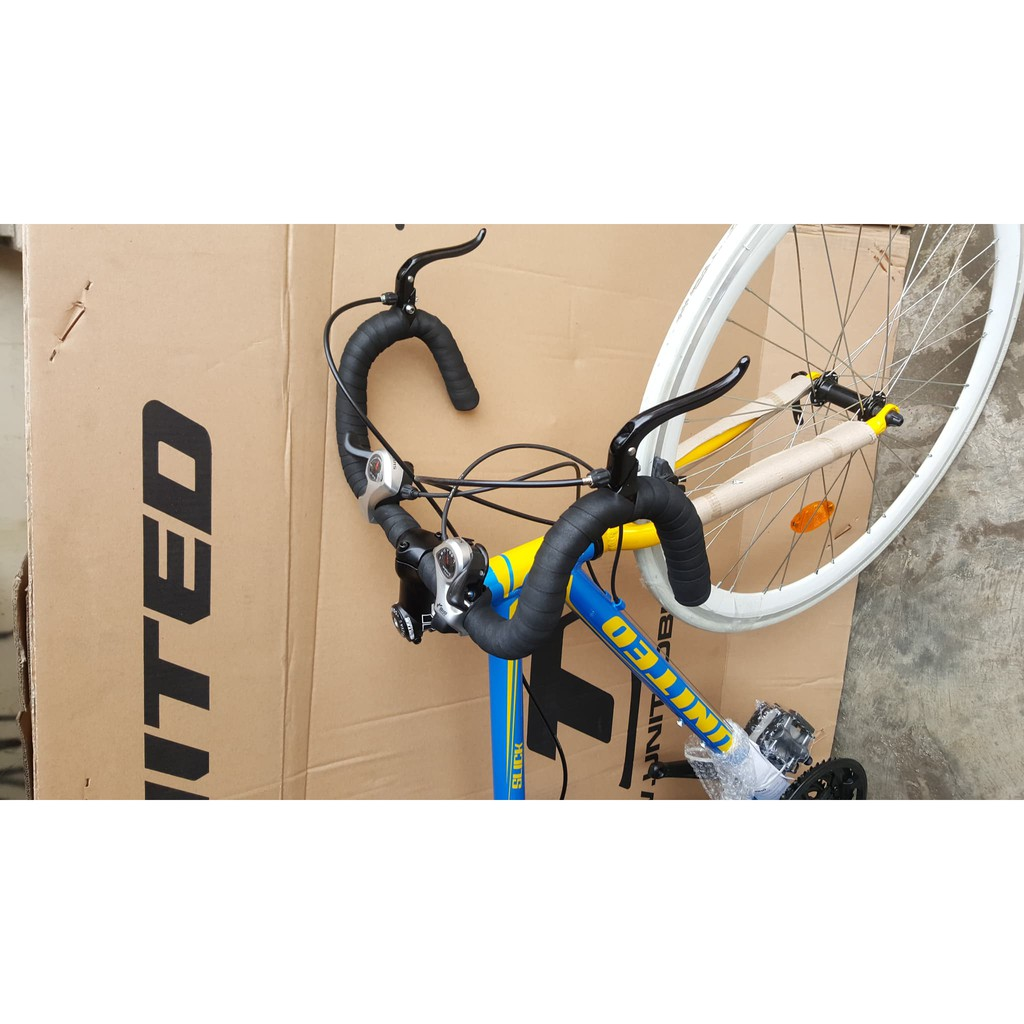 Sepeda Fixie Hybird 700 C Slick 71 Frame Alloy Modif Stang Balap Shopee Indonesia