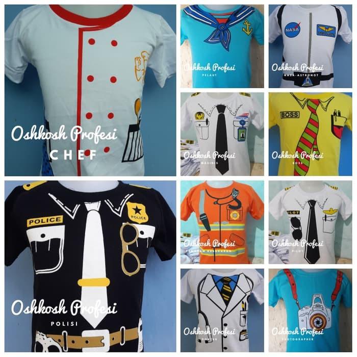 Kaos Anak Profesi Oshkosh Dokter Pilot Polisi Masinis Damkar Pakaian Baju  Anak Laki Murah Grosir  b107cf6eea