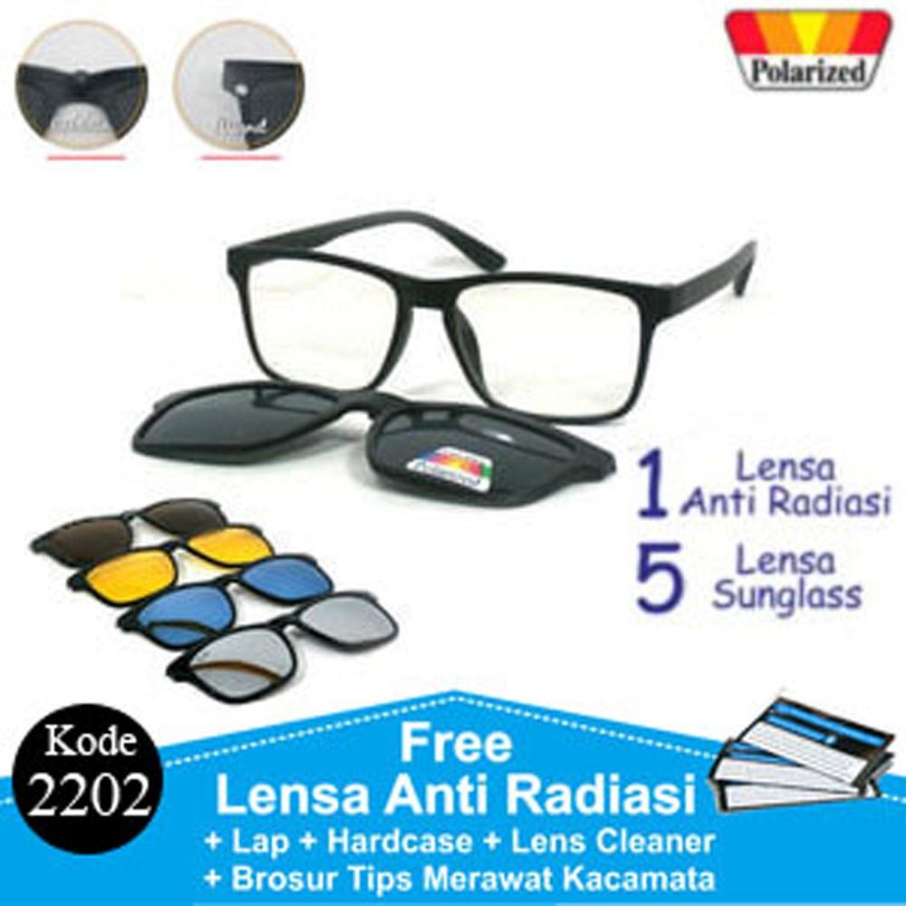 Frame Kacamata Minus Anti Radiasi RB CLIP ON 5 Lensa 2202  dade10edb7
