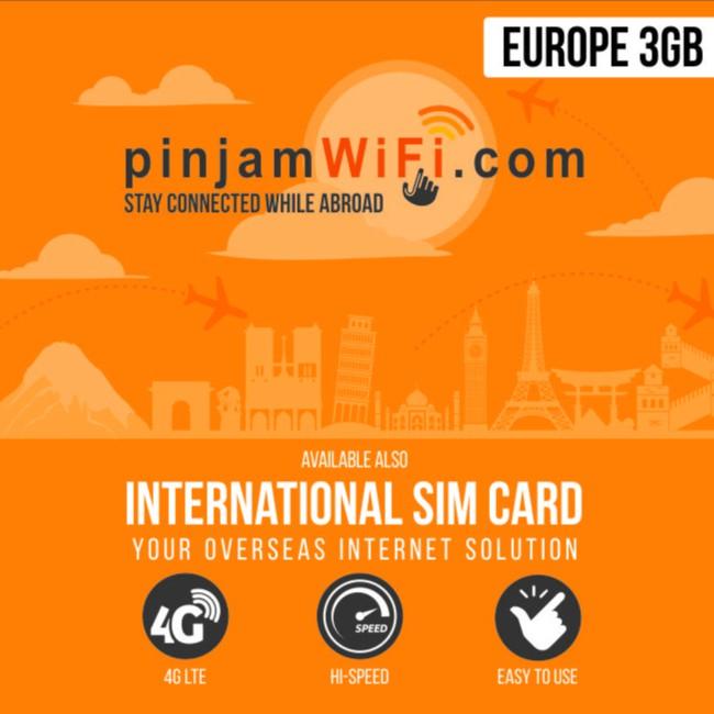 Sim Card Eropa 12 Gb For 30 Days Global Sim Card Europe Shopee Indonesia