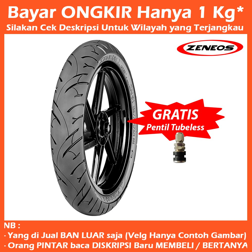 Zeneos Zn 62 Rs 12070 17 Tubeless Ban Motor Soft Compound Free 75 70 80 150 60