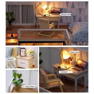 Miniatur Rumah Boneka DIY Doll House Wooden Furniture ...