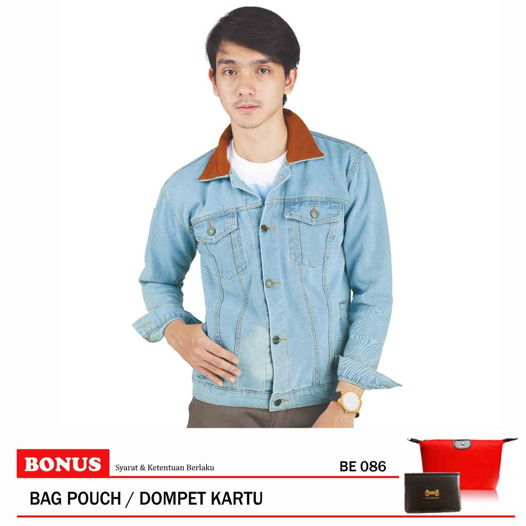 Jaket Pria Catenzo BE 086 Blue uk S-XL