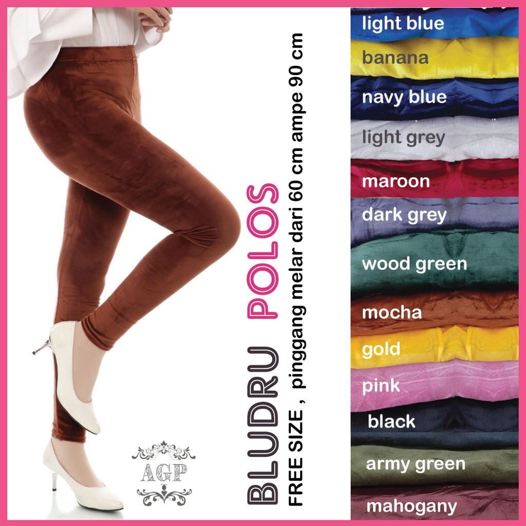 Legging Bludru Polos A121 Legging Bludru Velvet Jumbo Wanita Legging Jumbo Wanita Shopee Indonesia