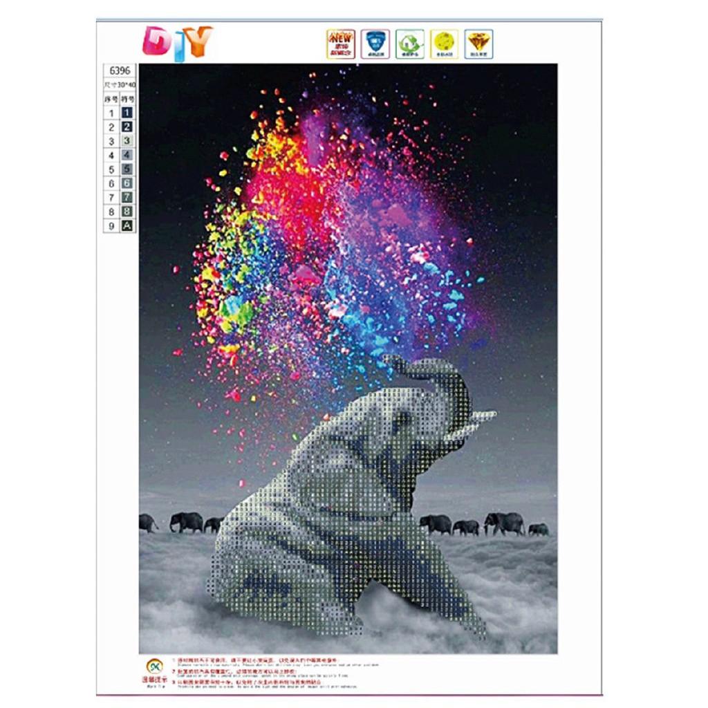 Xianggelila Lukisan Diamond 5D Gambar Gajah Untuk Dekorasi Rumah