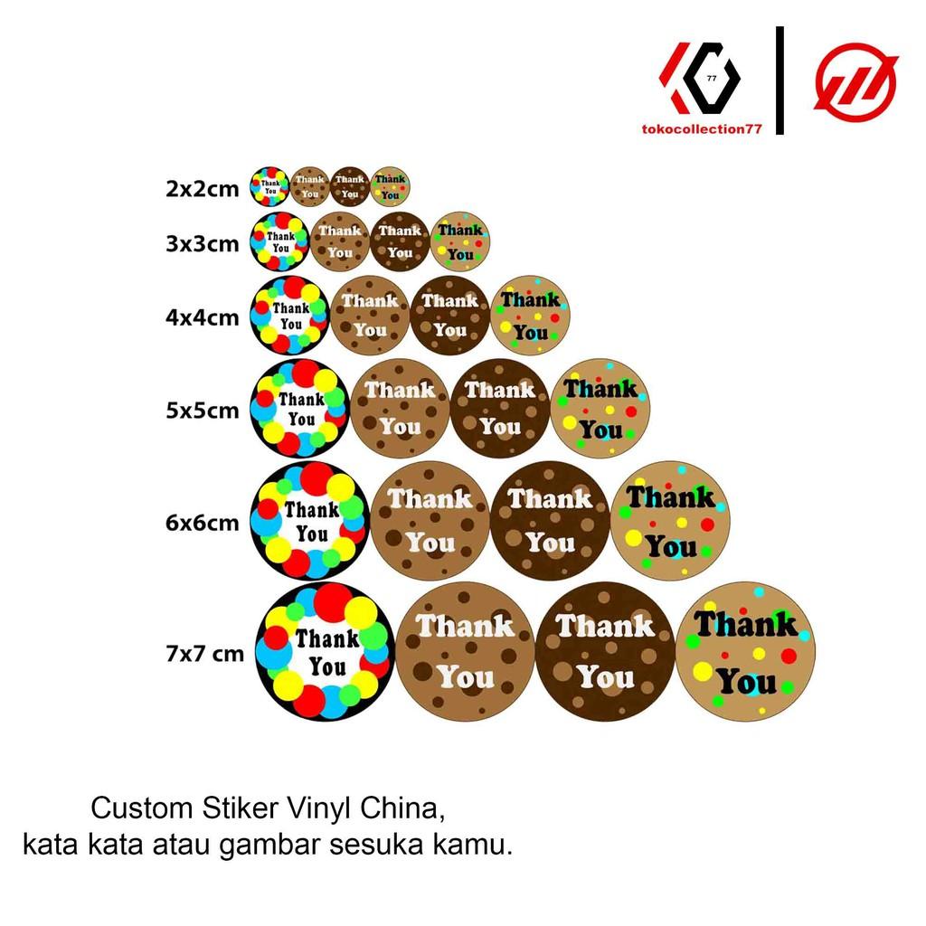Toko Collection 77 Stiker Vinyl China Buat Label Makanan Print Stiker Custom Kemasan Termurah