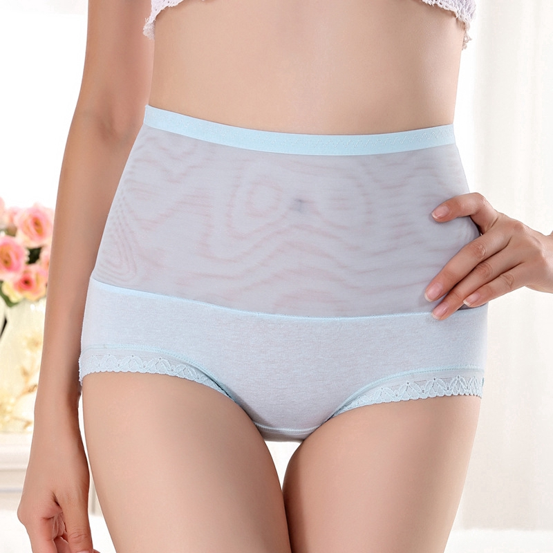 203557c1d5fa7 Bayar di Tempat Underpants high waist lace belly breathable mesh yarn  ladies cotton hip pants