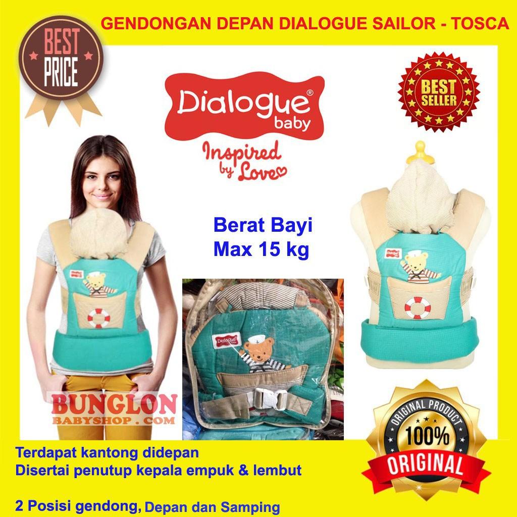 Gendongan Bayi Kanguru Dialogue Baby Ransel Depan 2 in 1 Sailor Series DGG-4236 - BIRU | Shopee Indonesia
