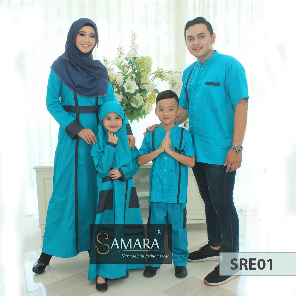 Couple Series Mutif Syari Style Baju Muslim Shopee Indonesia M133 Atasan Dewasa Hitam Abu Misty