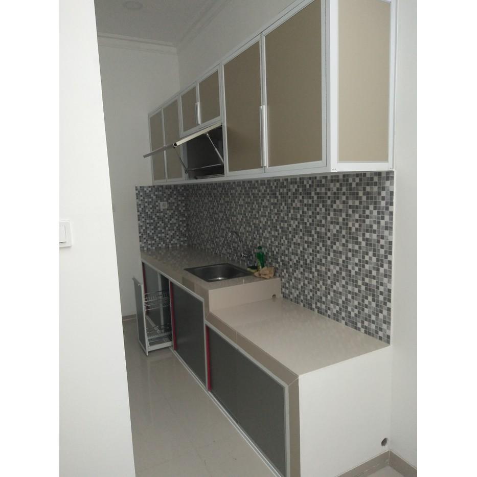 Kitchen Set Aluminium Lemari Almari Termurah