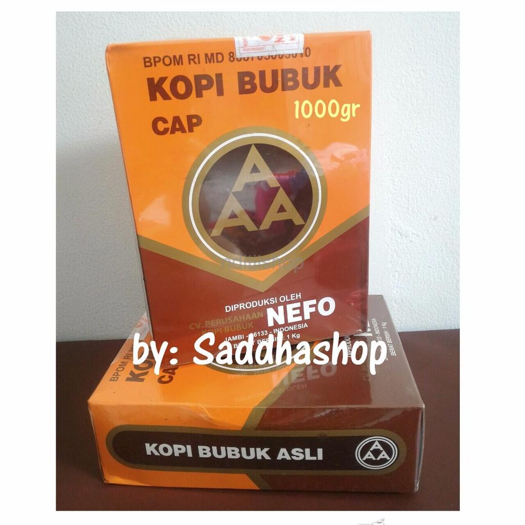 MANTAP Kopi Murni Bubuk Hitam Excelsa Nikmat Asli Cap AAA Nefo Jambi 1kg berkualitas | Shopee Indonesia
