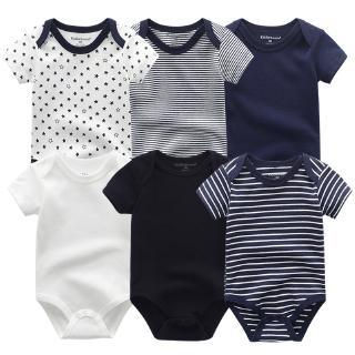 2020 6pcs Pakaian Bayi Baru Lahir Katun Bayi Jumpsuit Bayi Laki Laki Baju Lengan Pendek 0 12m Shopee Indonesia