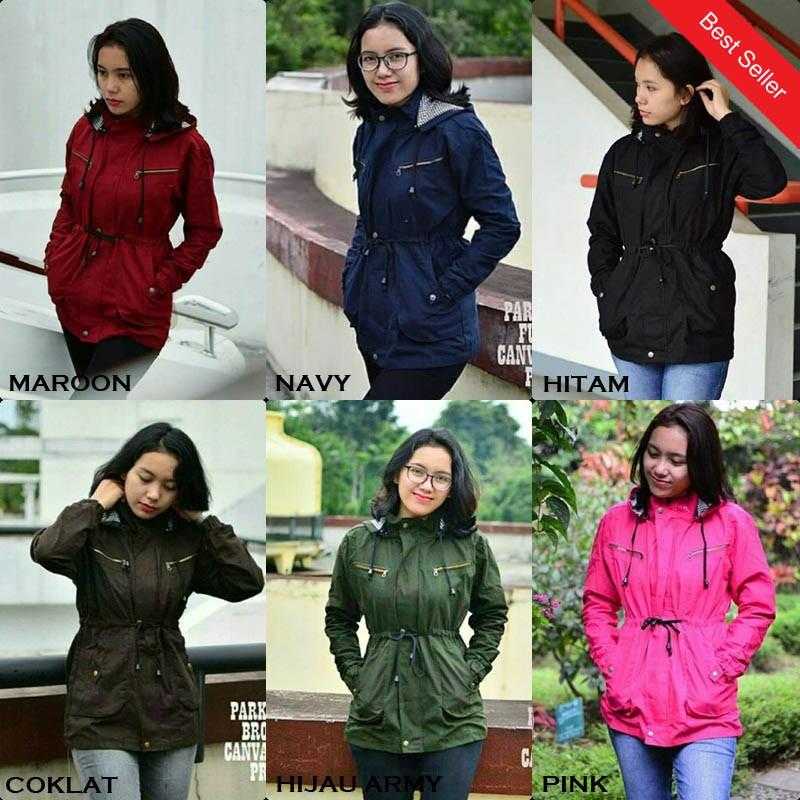 Jaket Parka Wanita Bolak-balik Bahan Parasut Despo Fleece / Jaket Cewek 2 in 1 | Shopee Indonesia