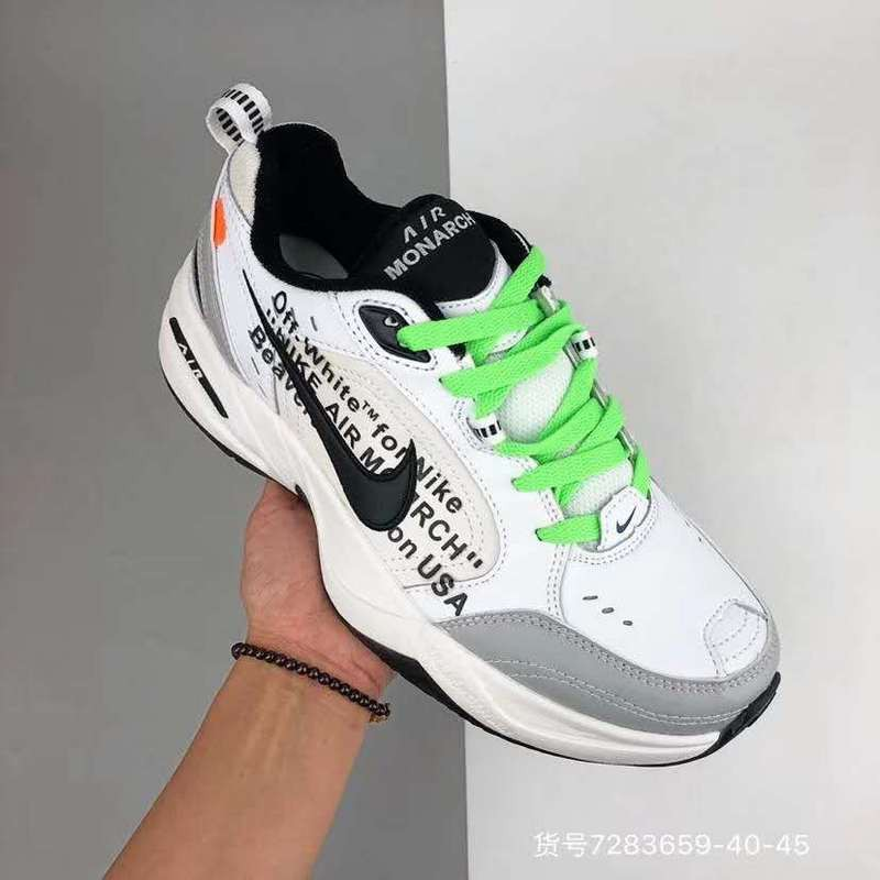 Premio Parcialmente mantener  READY STOCK*Nike Air M2K Tekno off-White Double Hook Retro White Green  Size: 36-45 | Shopee Indonesia
