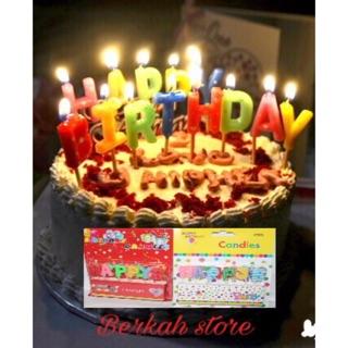 Lilin Happy birthday lilin kue ulang tahun