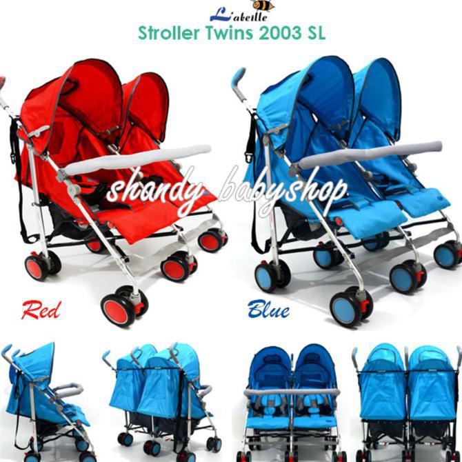 harga Stroller L'Abeille Twin (2003 Sl)/ Stroller Kembar Shopee.co.id