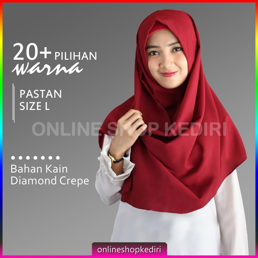 MEDIUM Pashmina Instan Sala / Pashtan OSI / Pastan Jilbab Polos | Shopee Indonesia