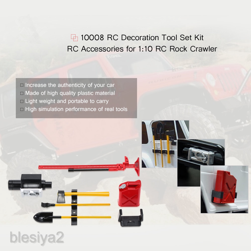 Blesiya2 1 10 Scale Rc Cars Body Decoration Tools Shovel Chain For Rc4wd D90 Tf2 Toys Shopee Indonesia