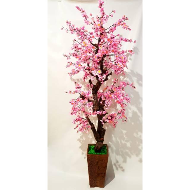 Bunga Sakura Artificial Jumbo Sakura Korea Musim Semi Bonsai Pohon Sakura Shopee Indonesia