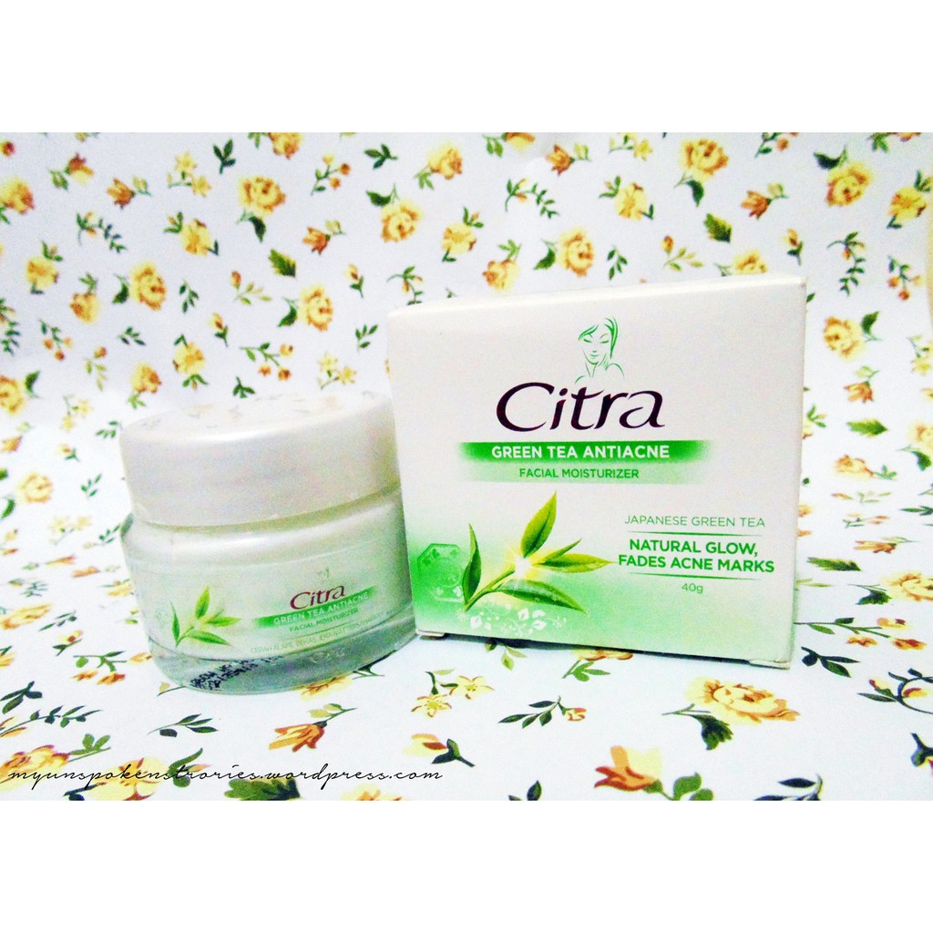 Citra Green Tea Anti Acne Face Moisturizer 40 Gr Shopee Indonesia Pearly White Uv 40gr