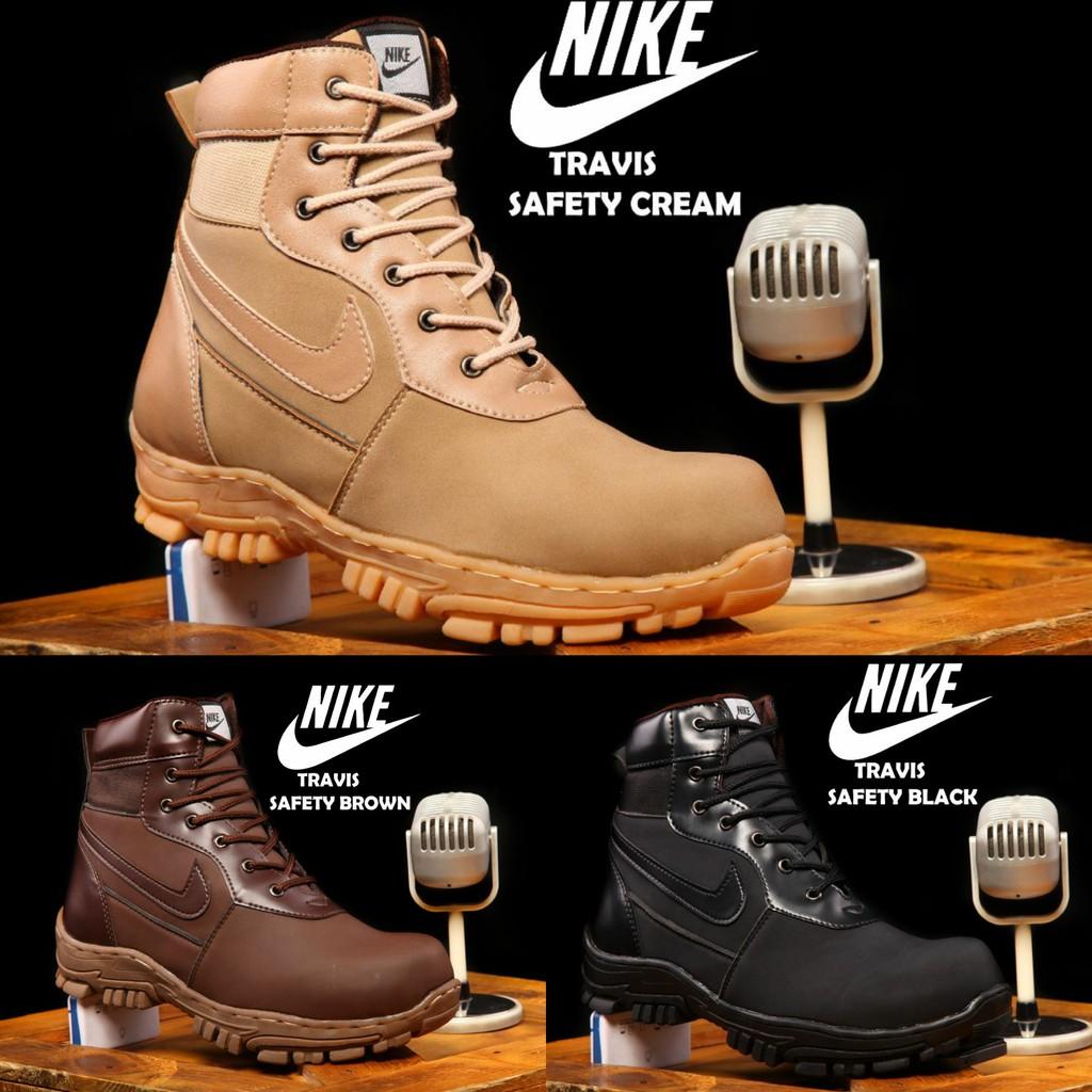 Sepatu Pria Nike Boots Tracking Ujung Besi Safety Shoes Casual Crocodile Morrisey Proyek Gunung Kerja Lapangan Pdl Delta Shopee Indonesia
