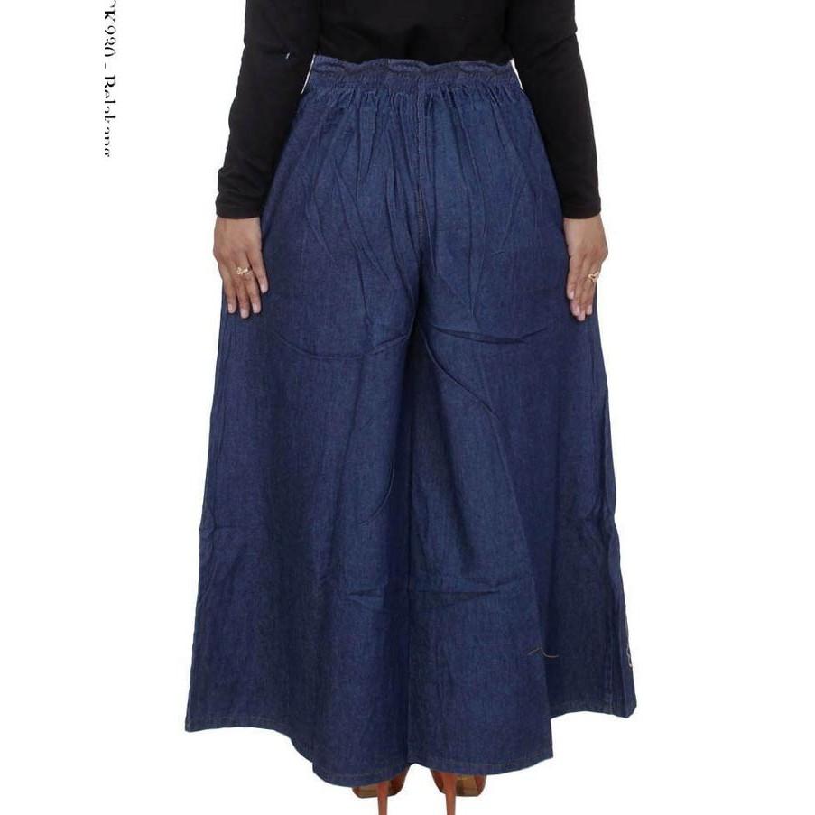 (4 WARNA) Celana Panjang Jeans Pinggang Karet Wanita   Shopee Indonesia