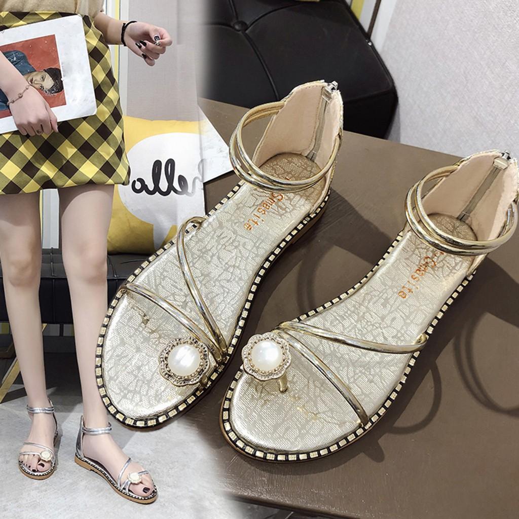 Womens Fashion Slip On High Heel Peep Toe Crystal Slipper Casual Sandals Shoes