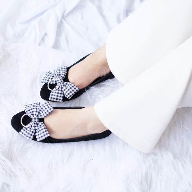 Sepatuafa - Flat Shoes Sepatu Teplek Wanita Lolita Pita - Pink ... 402978871f