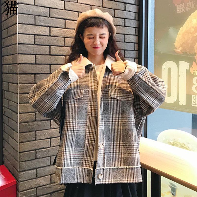 Mantel wol hitam wanita 2018 musim gugur dan musim dingin wanita Korea baru Hepb   Shopee Indonesia