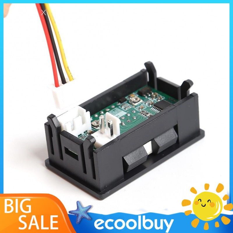 HW-811 Mini Digital Voltmeter Ammeter DC 100V 50A Panel Meter with Shunt