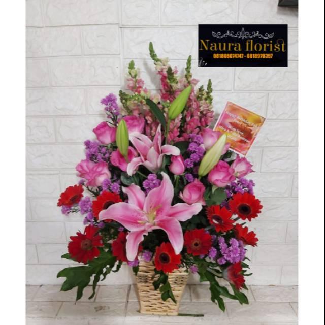 Rangkaian Bunga Bunga Meja Bunga Segar Bunga Asli Bunga Ultah Shopee Indonesia