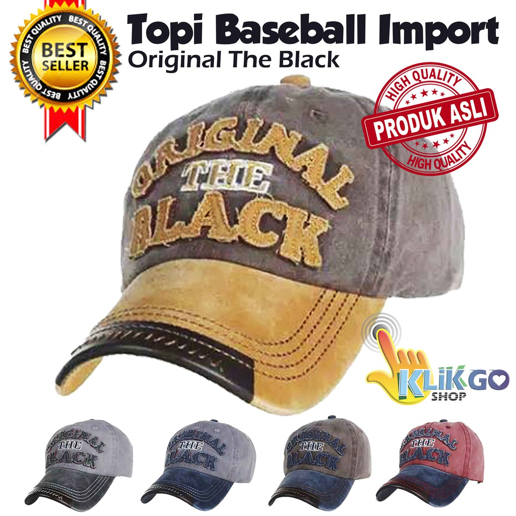 TOPI BASEBALL IMPORT ORIGINAL THE BLACK SNAPBACK CAPS TOPI DISTRO TRUCKER  a9bdb64088