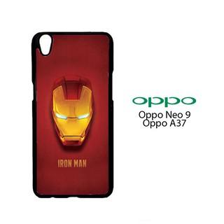 Casing Custom Hardcase Oppo A37 Neo 9 Head Mask Iron-Man O0329 Case Cover