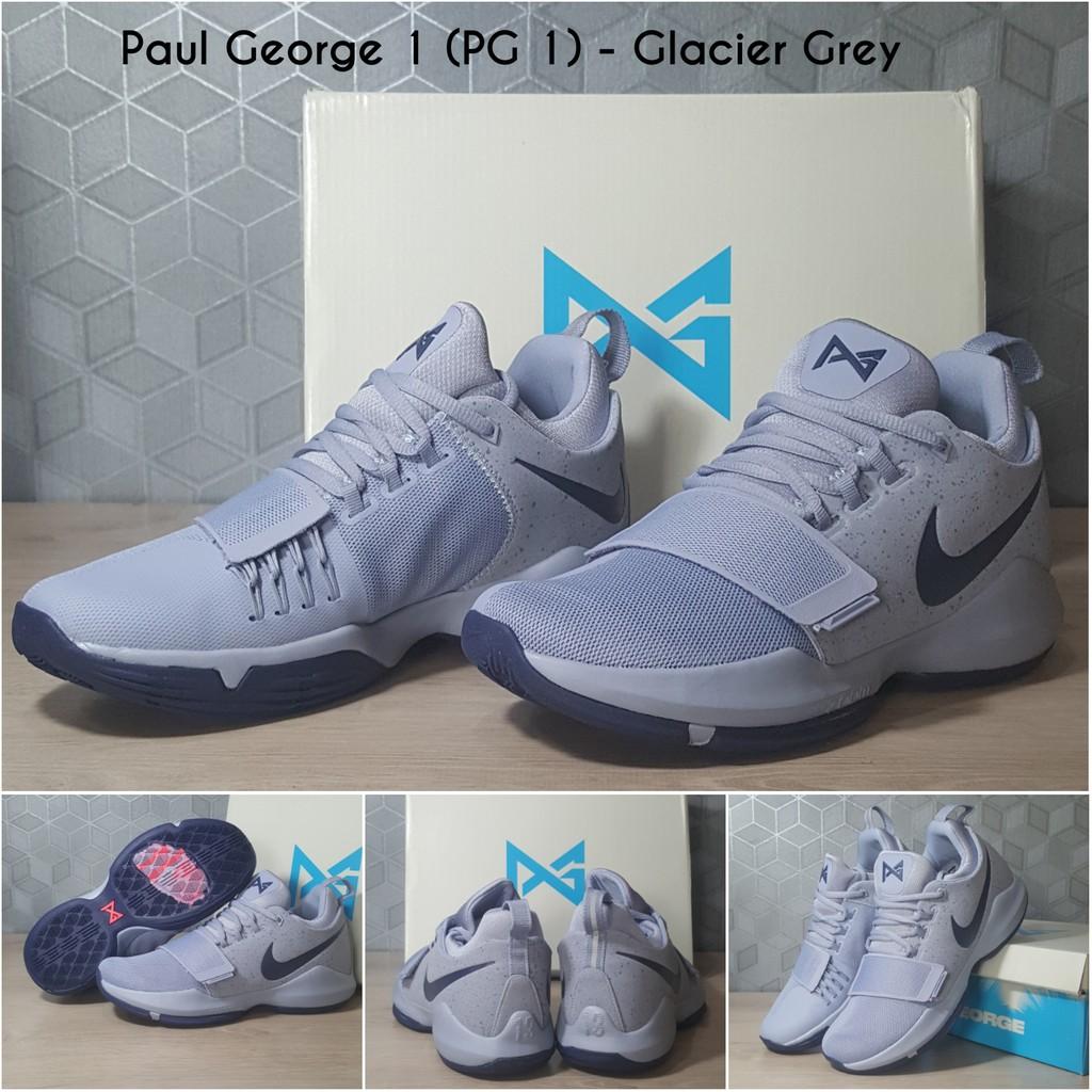 c70edb62e4 Sepatu Basket Paul George 1 (PG1) Black Ice   Shopee Indonesia