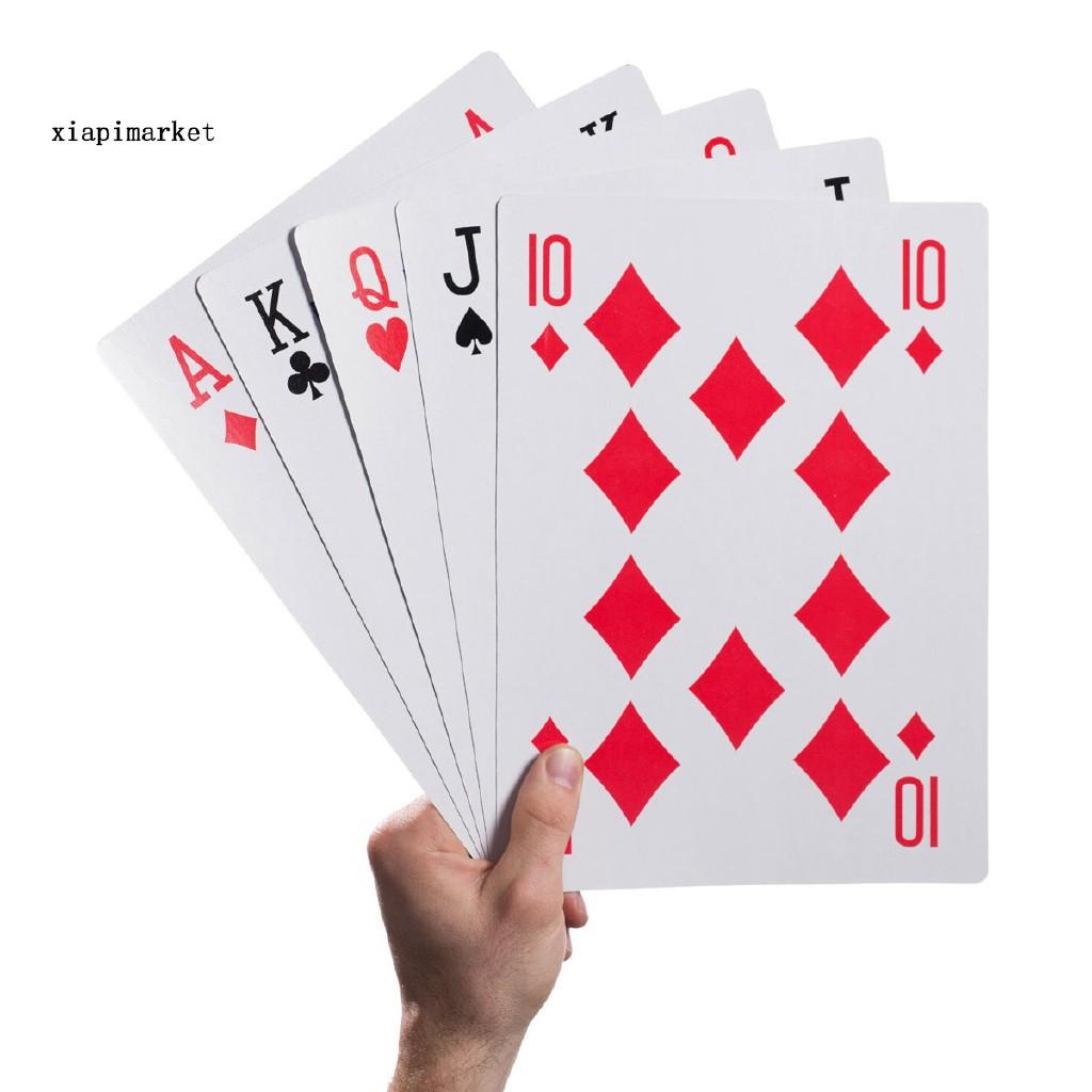 Xp 2 4 6 9 Permainan Kartu Poker Oversized Ukuran Besar Shopee Indonesia