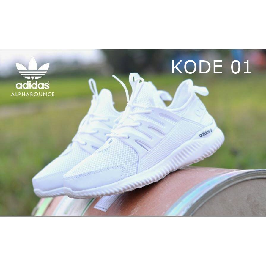 Sepatu Wanita Adidas Alphabounce Grade Ori Vietnam Running Shoes Lari Joging Senam Santai Woman Vr 276 Kets Sneakers Dan Casual Navy