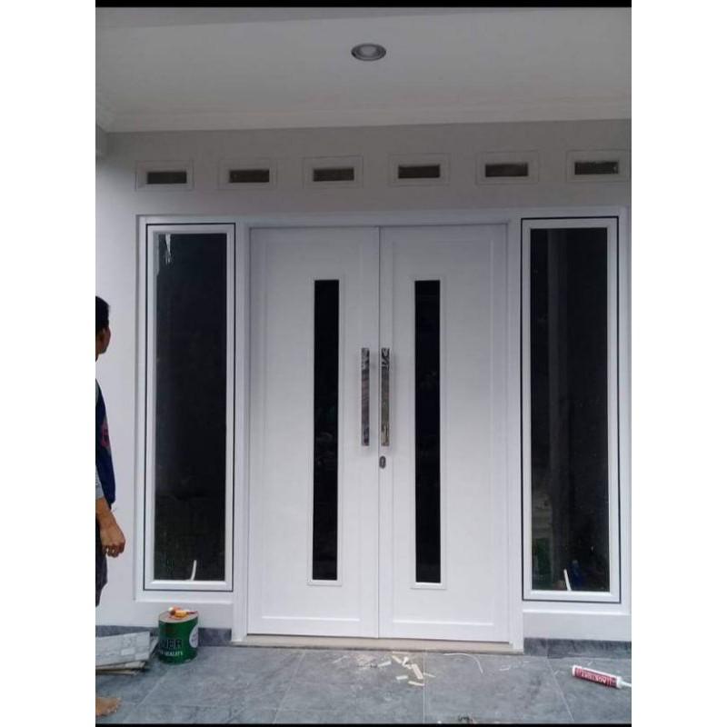 Pesanan Pintu Utama ACP & Jendela Kanan Kiri Aluminium