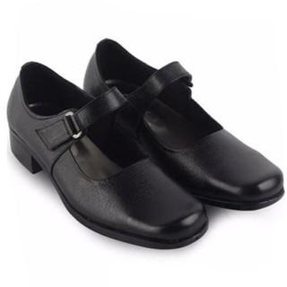 Aline Sepatu Pantofel Wanita Hitam Hak 3 Cm Cewek Sekolah Kantor