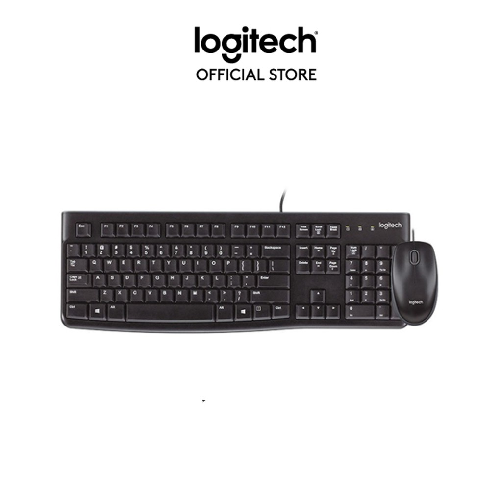 Black Desktop USB Keyboard and Mouse Logitech
