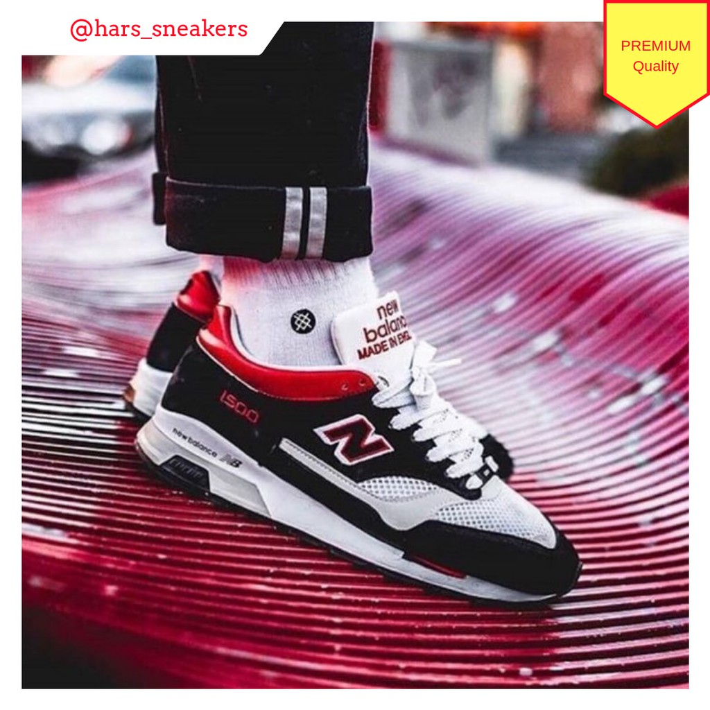 New Balance 1500 Black Grey Red Premium Original   sepatu running ... b7da78a13d